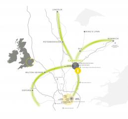 The Cambridge Location Map