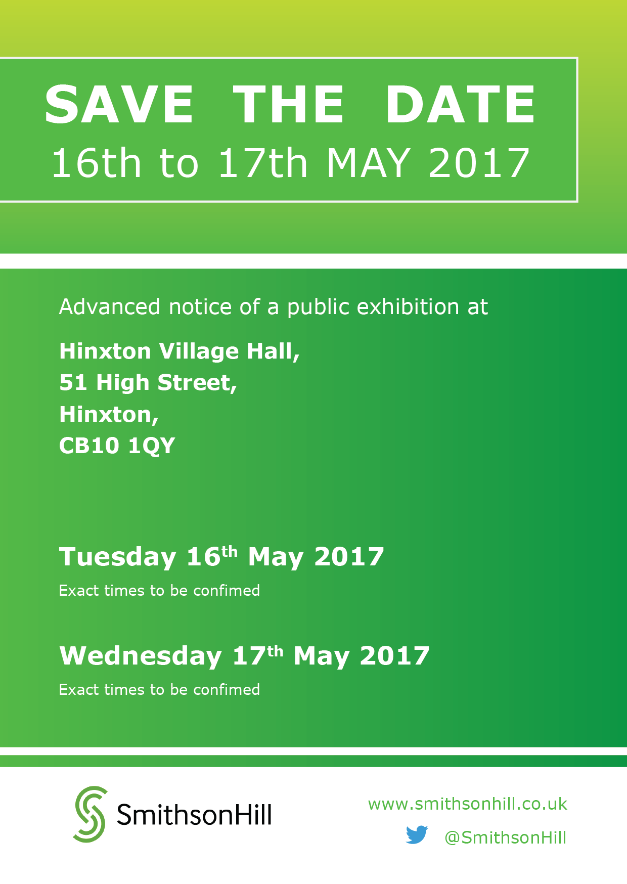 Save the date, Public exhibition