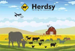 cartoon of animals in field wearing sensors