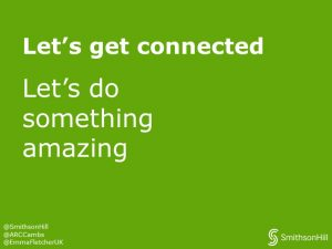 Green image saying lets do something amazing