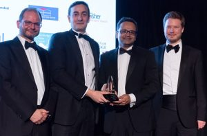Accepting Business Weekly award